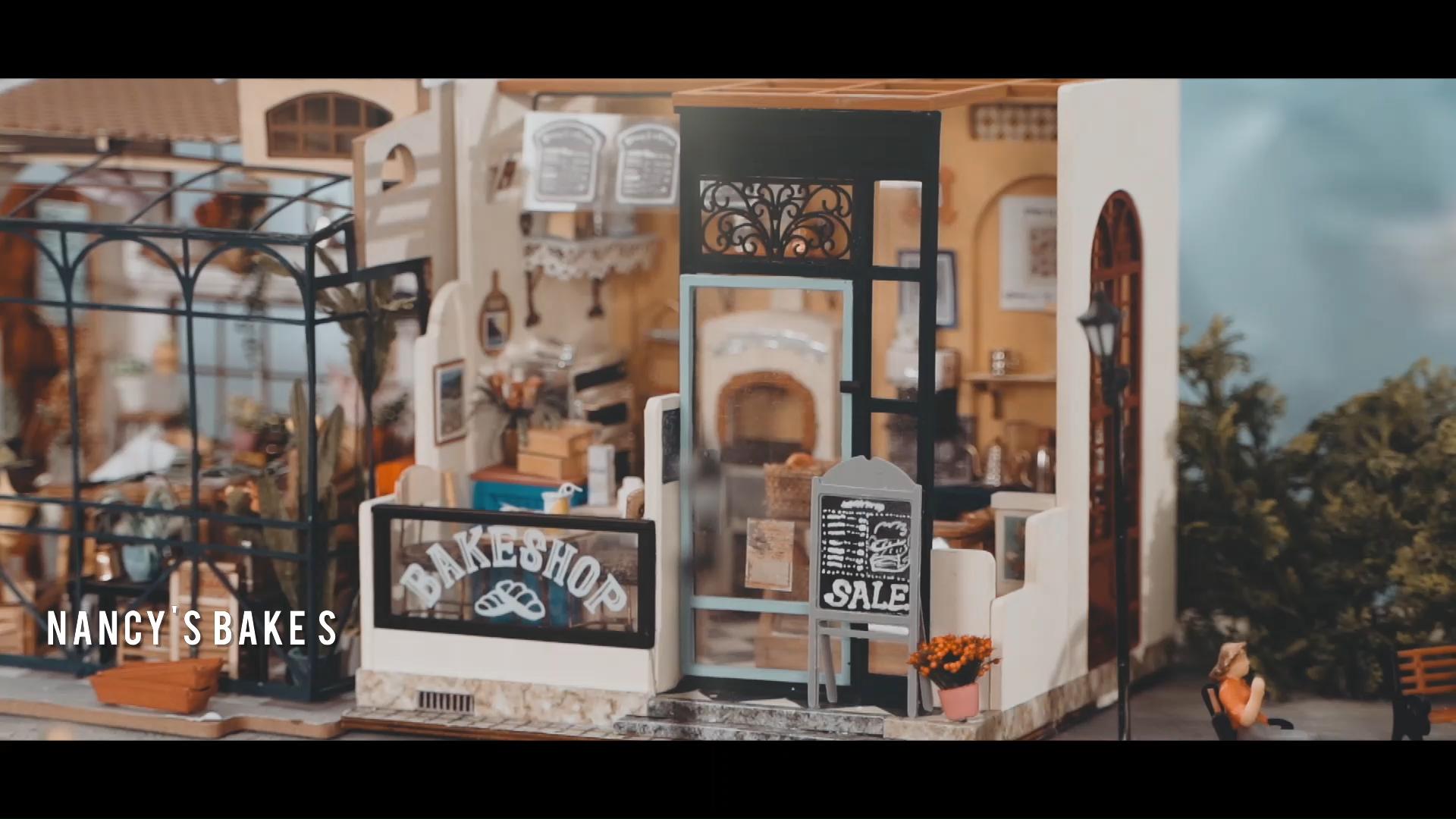 Robotime 2020 diy miniature house kit wooden handmade dollhouse