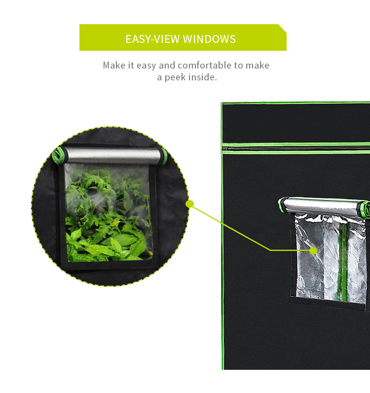 Reliable Supplier SINOWELL Super Reflective & Durable 600D / 1680D Mylar Fabric 4x4 Grow Tent