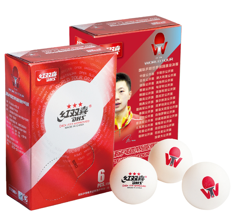 ITTF approved DHS D40+ 3star world tour white table tennis balls