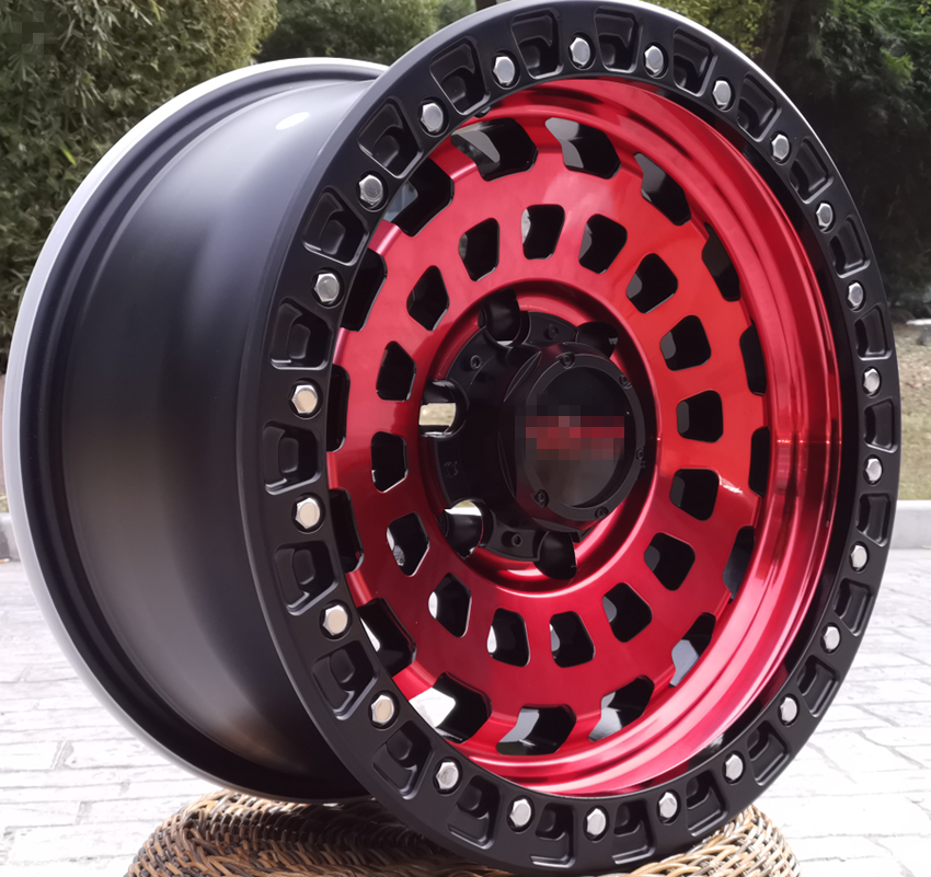 Off road car rim 15 17 19 inch car wheels PCD6x139.7 cast aluminum alloy wheels
