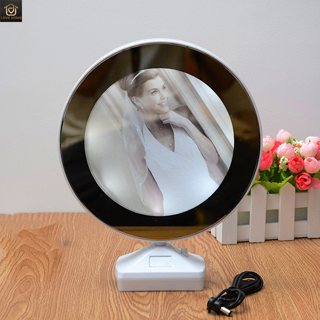 Amazon hot new creative LED photo frame Multifunction light digital photo frame Can be used as a mirror photo frame