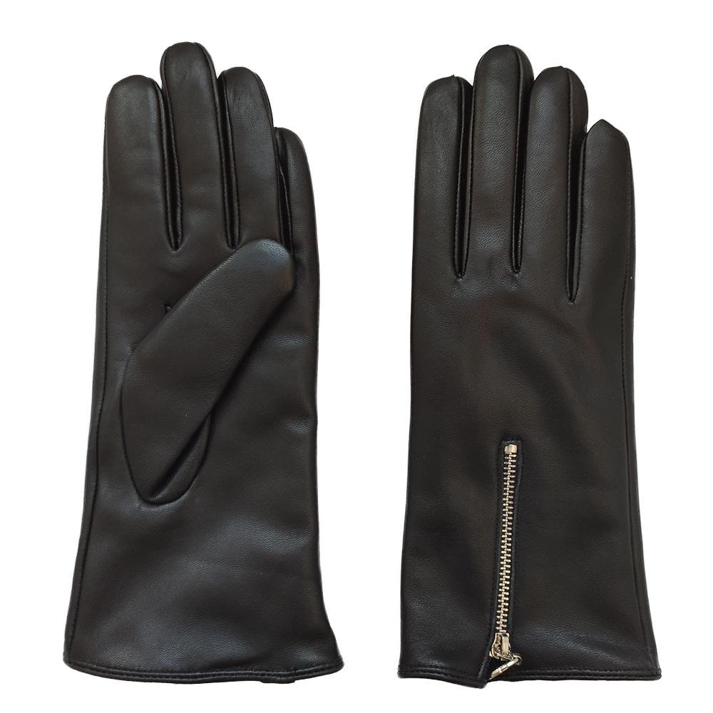 custom classics zipper winter women warm sex real sheepskin leather gloves
