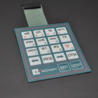 Customized push button membrane keypad waterproof membrane switch with LED