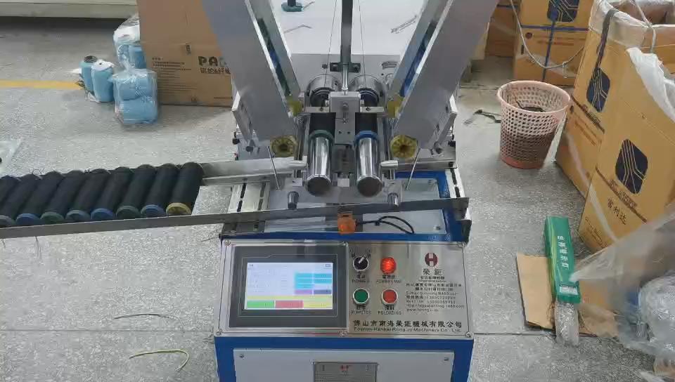 Satu Lapisan Otomatis Benang Wefting Mesin Winding Benang Polyester