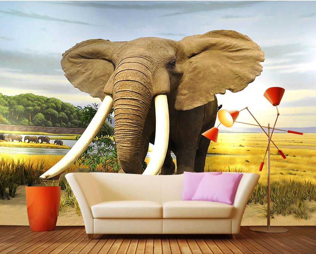 Custom made kids design elephant print