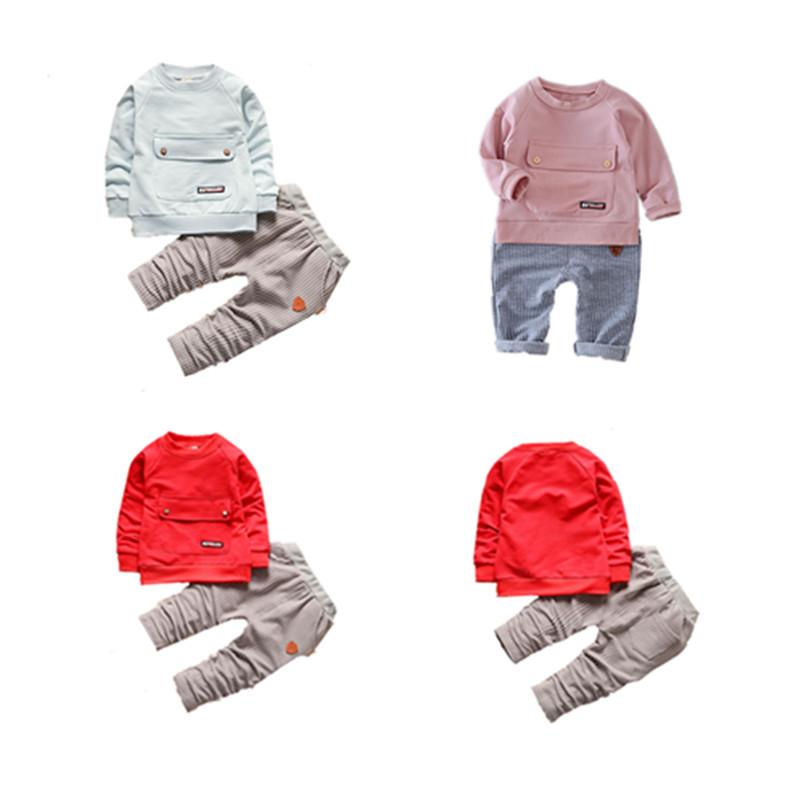 New 2020 Boys ชุดเสื้อผ้าแฟชั่นลำลองเด็ก 1-4 ปีเด็กขายส่งเสื้อผ้าบูติก