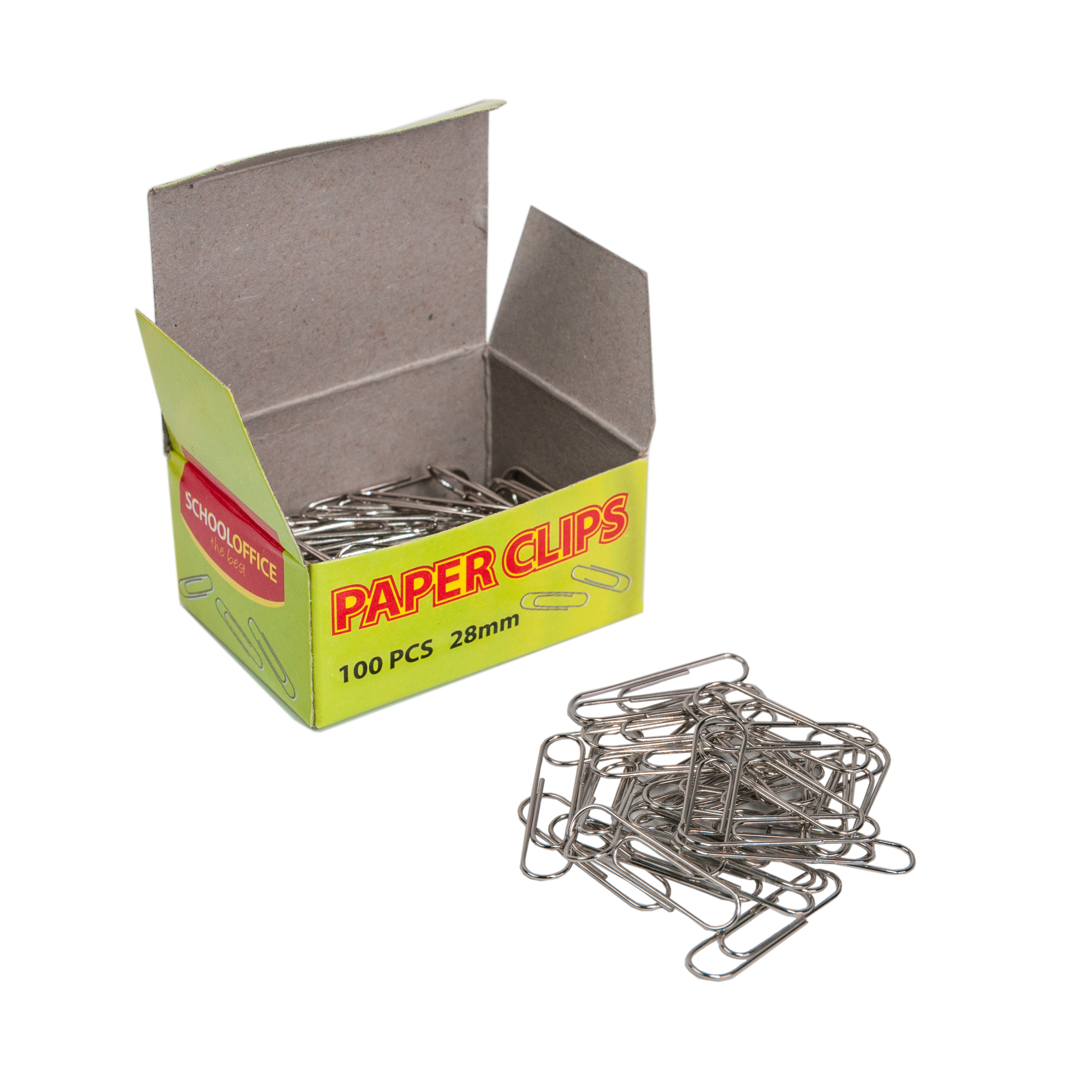Reliable Quality 28mm 100pc Flat Round Metal Silver Paperclips Office Supplies Paper Clips