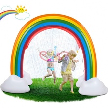 ขายส่งราคาถูกGiant Inflatable Pool Float Cloud Rainbow River Arch Island Floatเก้าอี้Raft