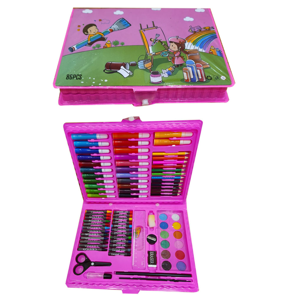 wooden aluminium case children kid crayon painting coloring markers stationery gift drawing craft art artist sets for kids