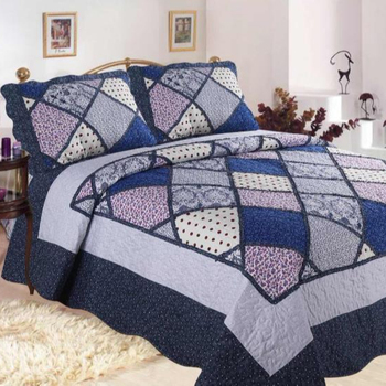 Customized Polyester Handmade Patchwork Double Bed Quilt For Sale