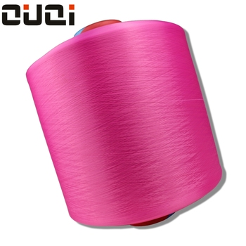 Wholesale knitting tshirt yarn Filament Draw texturing Dyed 300D / 48F 100% polyester DTY yarn