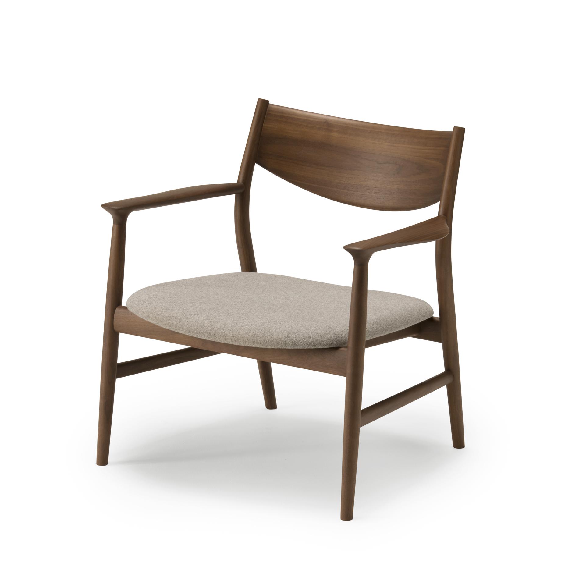 Japanese beautiful shape embracing backrest modern round lounge chair
