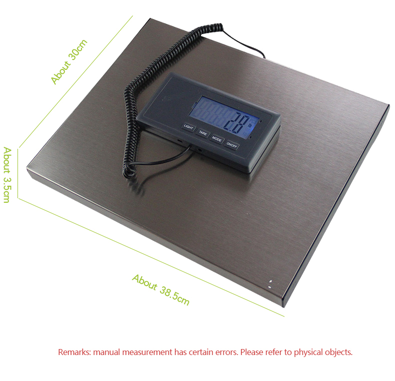 High Precision Digital Suitcase Scale Portable Weight Scale Parcel Stainless Steel Platform