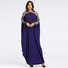 Vêtements islamiques musulmans manches chauve-souris robe broderie <span class=keywords><strong>abaya</strong></span> chine en gros femmes <span class=keywords><strong>abaya</strong></span>