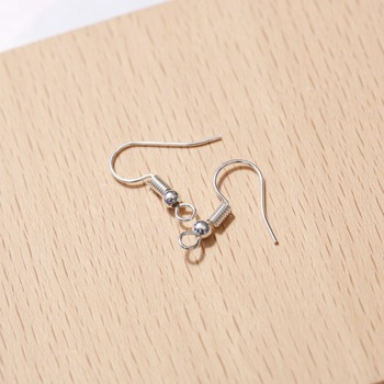 100pcs Fish Earring Hooks Ear Wires with Ball and Coil Hypo Allergenic 7 Colors 18mm Jewelry Finding