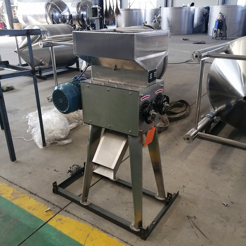 Rainbow stainless steel 300kg double roller Malt Milling Machine for craft Beer mash brewery Use with auger conveyor system