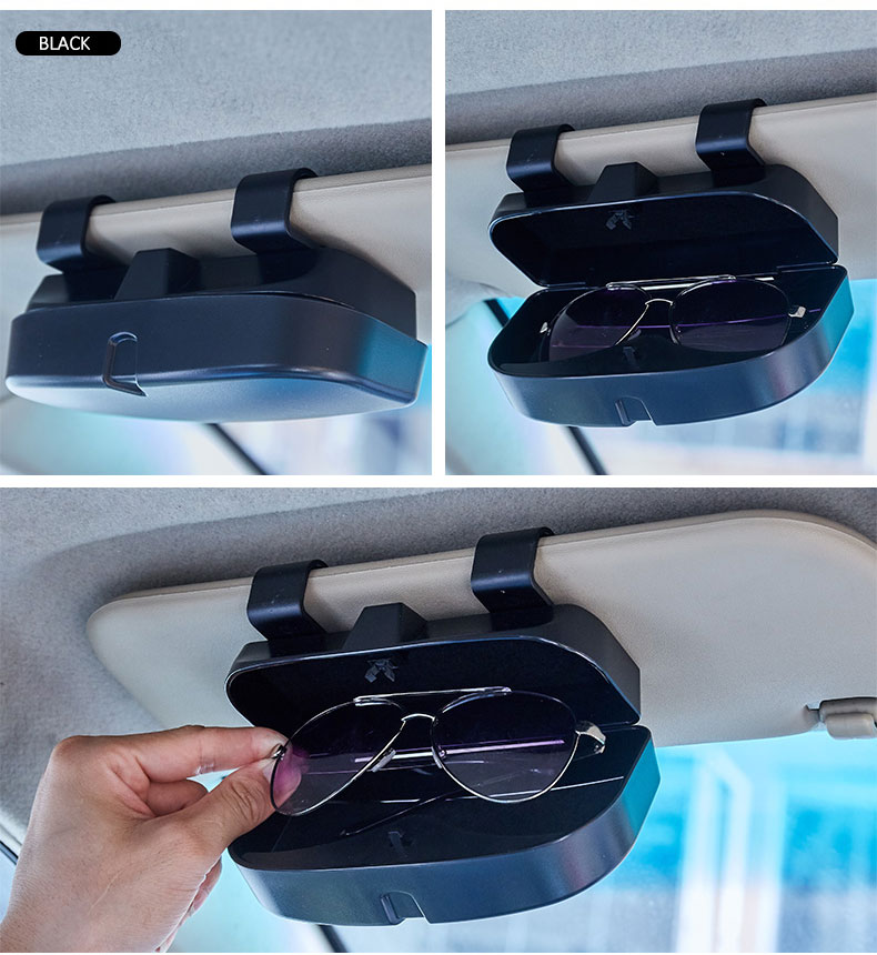 High Quality Car Personalized Glasses Box Cases Storage Organizer Eyeglasses Protect Case Car