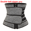 Double belt zipper grey