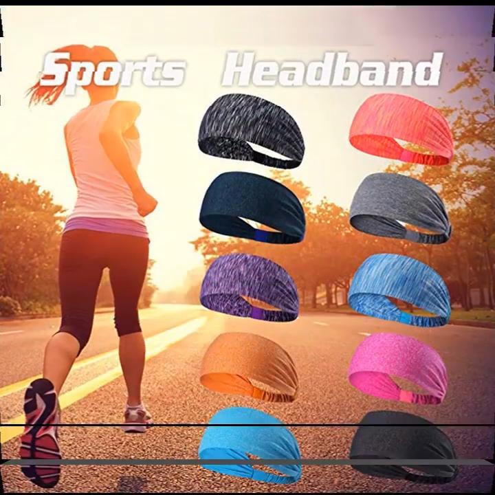 wholesale fashion hairband Non-slip Sweatband sport headbands custom women headband for yoga