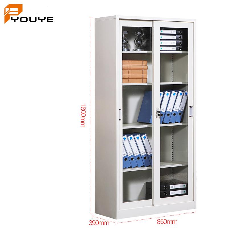 storage steel filing cabinet 2 glass door \/cabinet\/cupboard