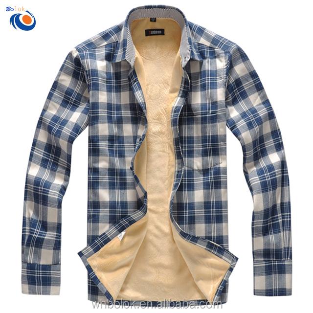 SportsX Mens Long Sleeve Buttoned Fleece Lined Warm Thicken Shirt Tops