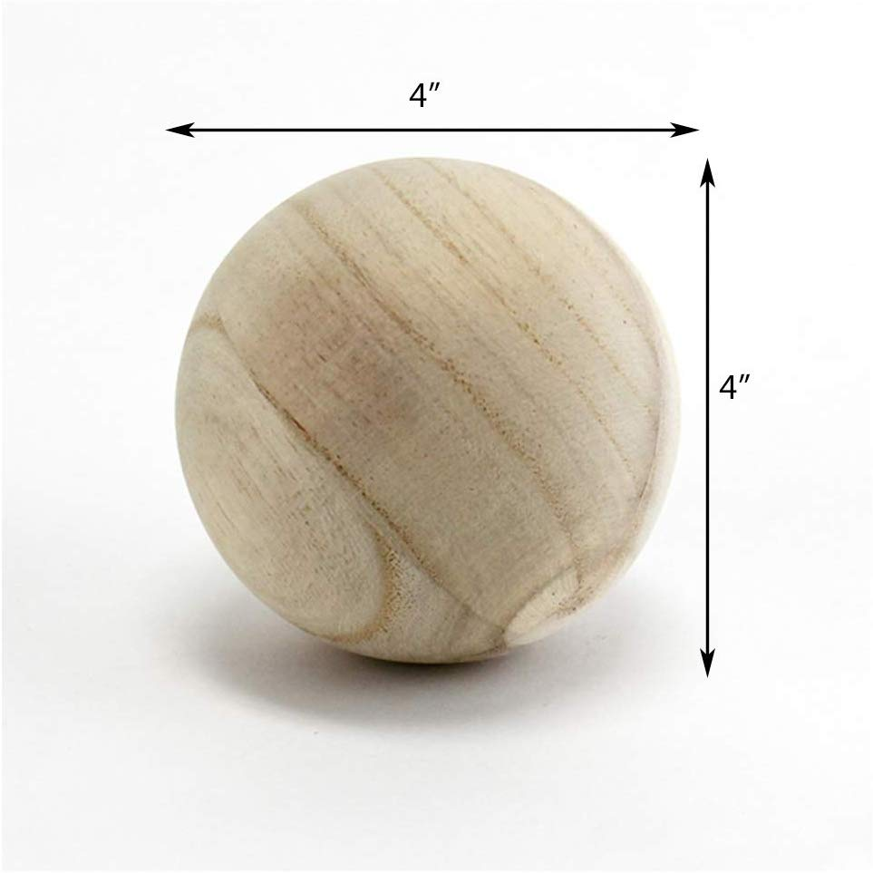 6mm to 60mm Diameter Natural Wood Balls Wooden Craft Sphere Round Craft Supplies