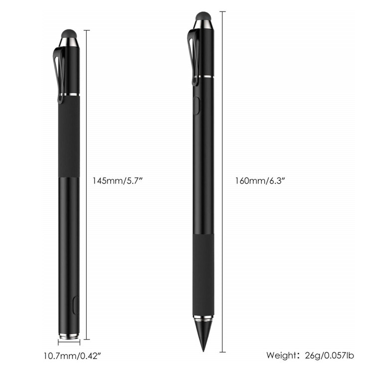 MoKo 2-in-1 Capacitive Fine Point Touch Screen Tablets Universal Active Stylus Pen for iPad/Samsung Galaxy Devices