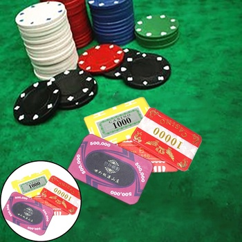 Wholesale Custom Hologram Sticker Logo Ceramic Poker Chips for Casino