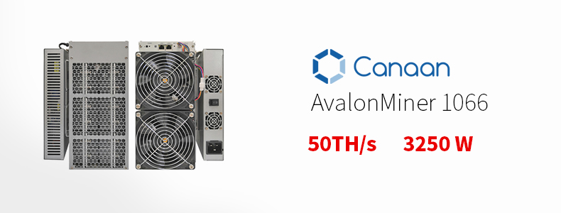 Renowned  Canaan avalonminer1066  SHA-256 3250W 50TH  btc mining machine