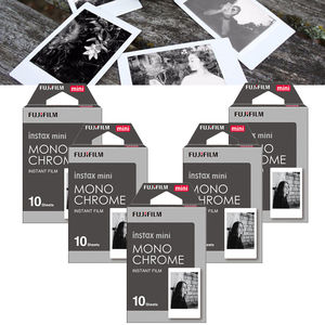 Compact size Fujifilm instax mini Mono Chrome instant film 10 sheets/pack for Fujifilm mini 7s  8  9  25 50s 70 90 cameras