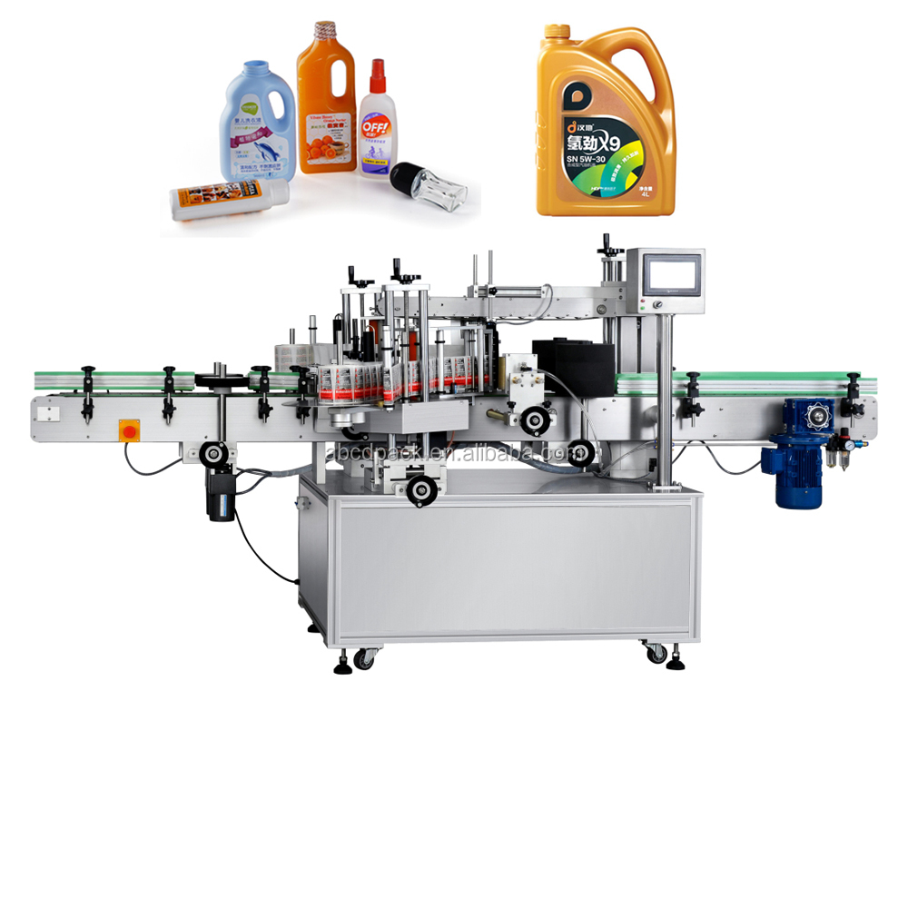 ABCDPACK Automatic Sticker Labeling Machine For Bottles Two Sides Labeling Machine