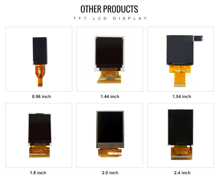 OEM small display 128x128 1.44 inch tft lcd for smart watch