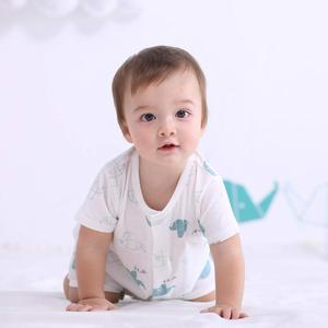Newborn Baby Short Sleeve Jumpsuit Clothes Boy Girl Summer