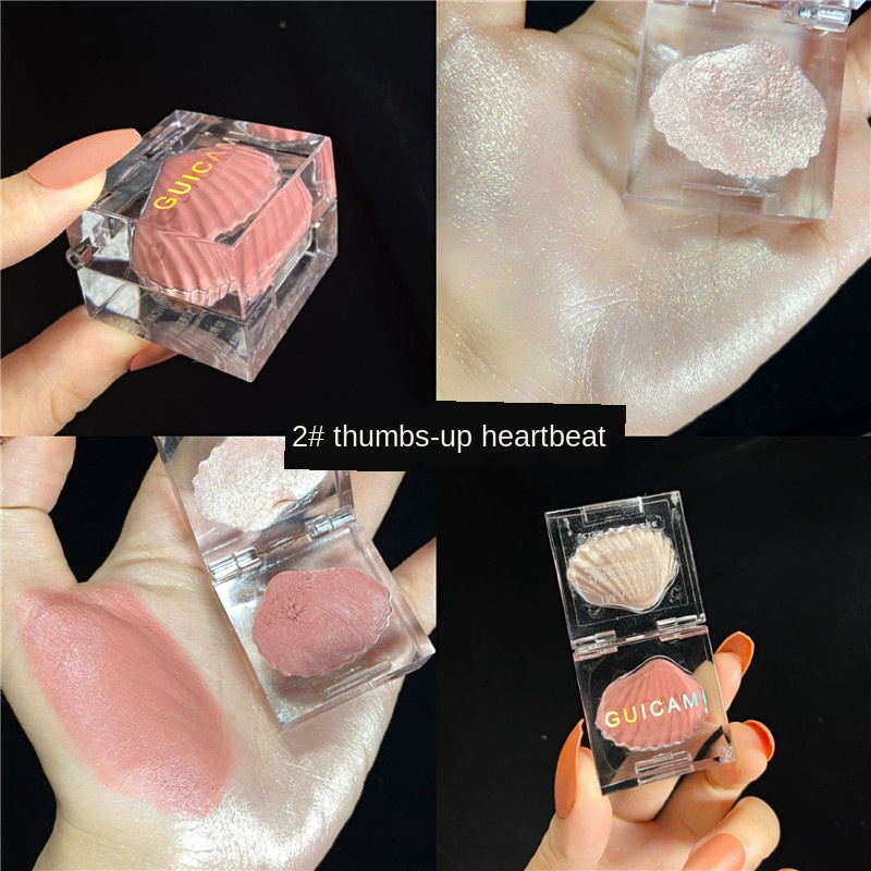 Small Ice Cube Shell Highlight Blush Face Contouring Brightener Makeup Concealer Highlighter Primer Face Bronzer