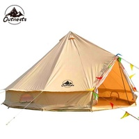 3 4 5 6 person Cotton Canvas 5m Bell Tent Teepee Yurt Glamping Tents