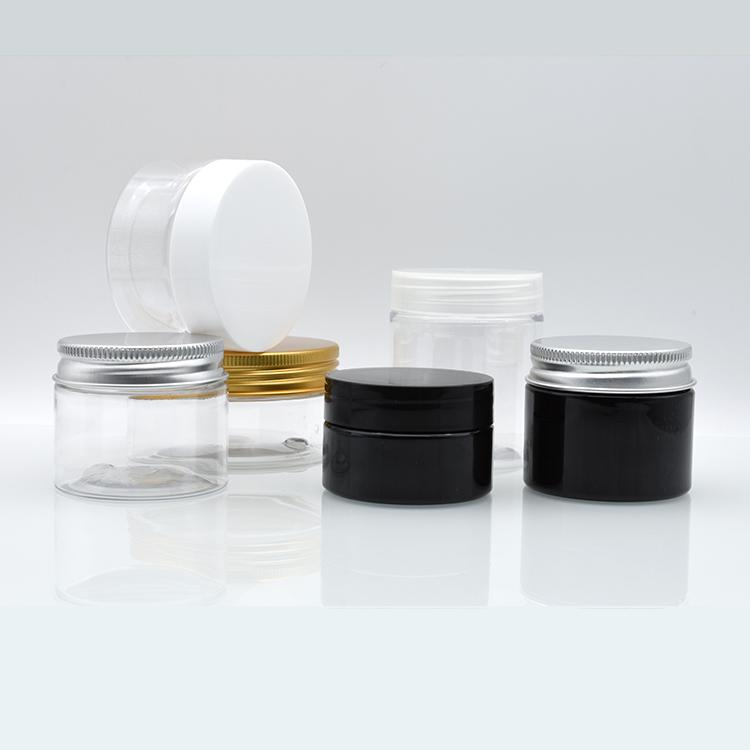 1 oz 2oz 4oz 30ml 40ml 50ml 60ml 80ml 100ml 120ml clear plastic PET jar plastic jar with aluminium lid transparent inner seal