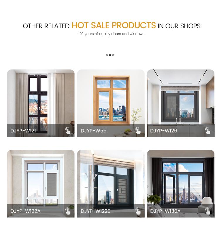 Easy Installation W126 Aluminum Anti Thret Glass Window for Brick House