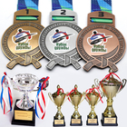 Factory Custom Engraved 3D Sport Metal Taekwondo Medals And Trophies