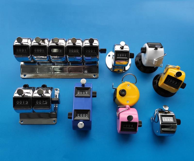 Bốn- chữ số vỏ kim loại tay kiểm đếm truy cập cơ khí kiểm đếm counter