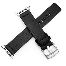 Оригинальный ремешок из натуральной кожи для Apple Watch 4 3, спортивный ремешок, быстросъемный браслет 38, 40, 42, 44 мм(Китай)