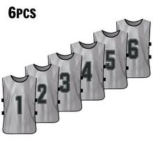 6 шт. Баскетбол для взрослых Pinnies быстросохнущие баскетбольные майки футбольная команда Scrimmage тренировочный жилет нагрудники жилет(Китай)