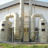 PP material exhaust gas washing tower wet scrubber for acid and alkali waste gas waste gas washing tower