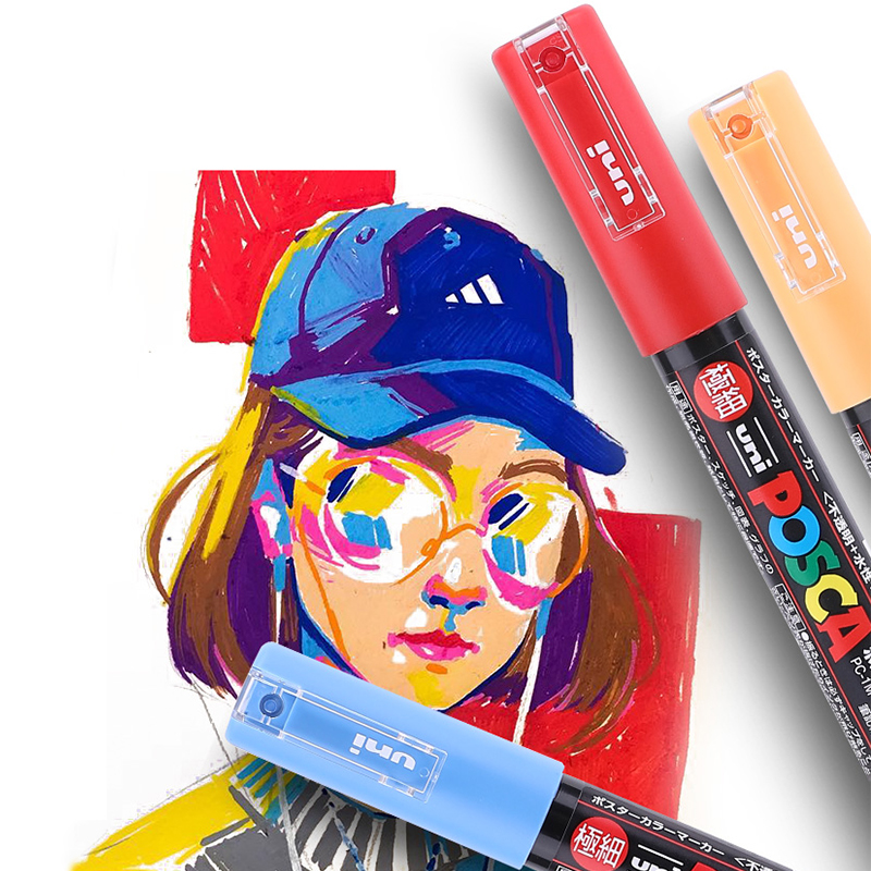 ready to ship colorful best Popular and Various markers uni paint posca marker pen set/