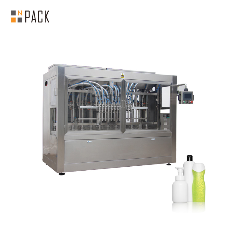 Npack 10 nozzle NP-VF Piston Linear Type Servo Motor Hair Shampoo Spray Filling Machine for Bottle