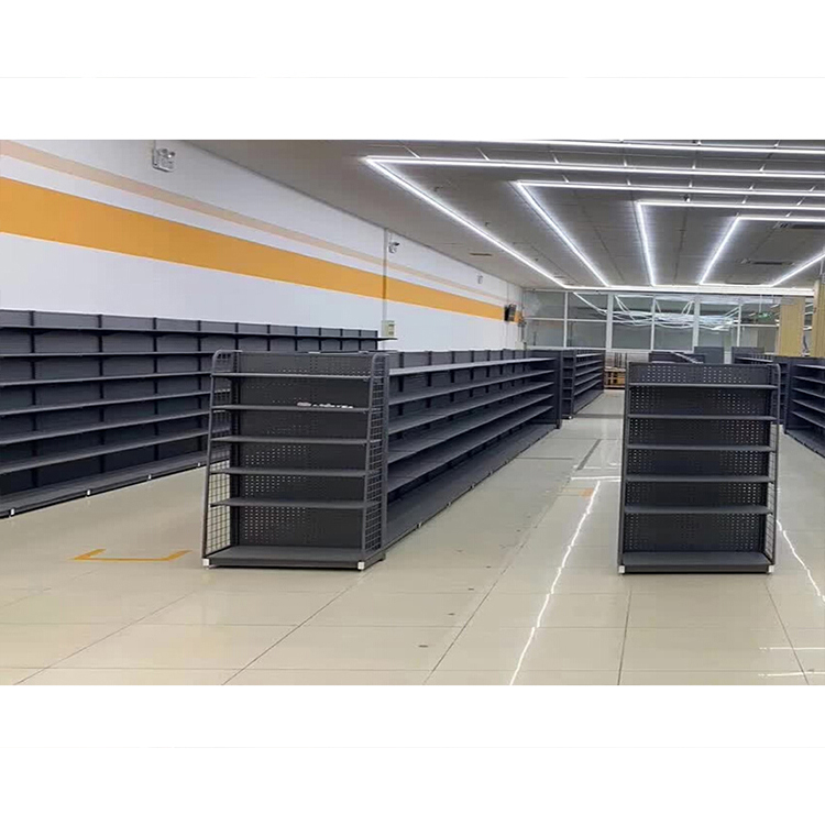 Customized Steel Supermarket Shelves Grocery Display Shelving Racks Store Gondola For Sale /<strong>Retail</strong>
