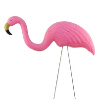 plastic pink flamingo for lawn ornament and garden decoration