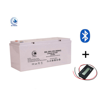 Rechargeable 12 volt deep cycle solar lithium ion lifepo4 li ion 12v 200ah lipo pin battery batteries pack price