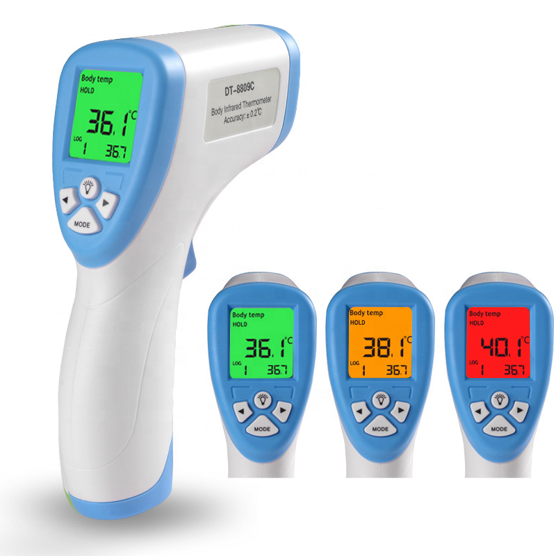 Digital Infrared Thermometer IR Body Temperature Meter for Baby Forehead Surface Non-contact Gun LCD Display Blue/Green/Purple - KingCare | KingCare.net