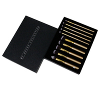 Black texture paper box make up brush packaging customized