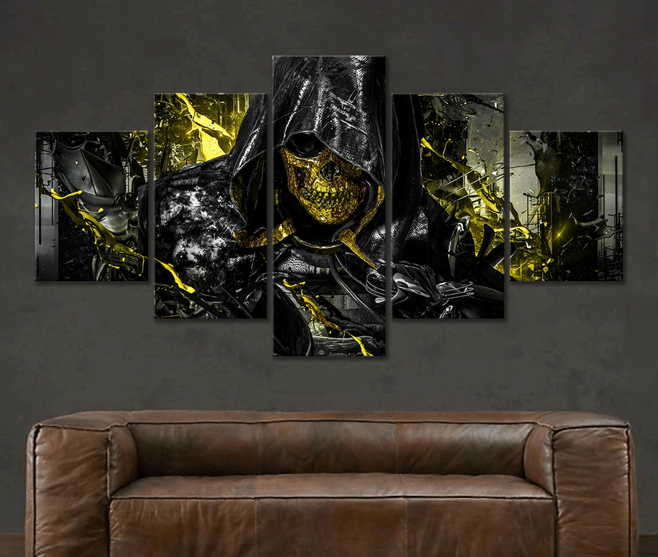5 Piece Death Stranding Higgs Skull Mask Hd Game Poster Canvas Painting Bedroom Living Room Decoration Painting Calligraphy Aliexpress Ahead of its anticipated launch, an ■ news and updates ├ standard edition higgs variant (october 14, 2019) ├ game file size. aliexpress